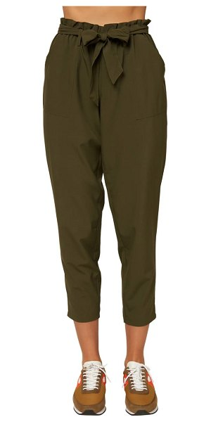 O'Neill layover paperbag waist ankle pants in dark olive