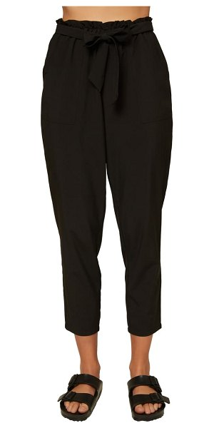 O'Neill layover paperbag waist ankle pants in black