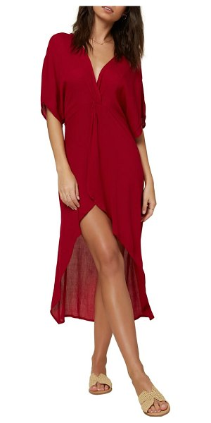 O'Neill saltwater twist cover-up tunic dress in sangria
