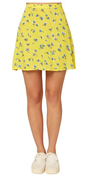 O'Neill sindra floral print skirt in bright lemon