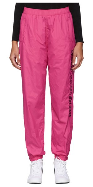 Opening Ceremony ssense exclusive  nylon track pants in pink