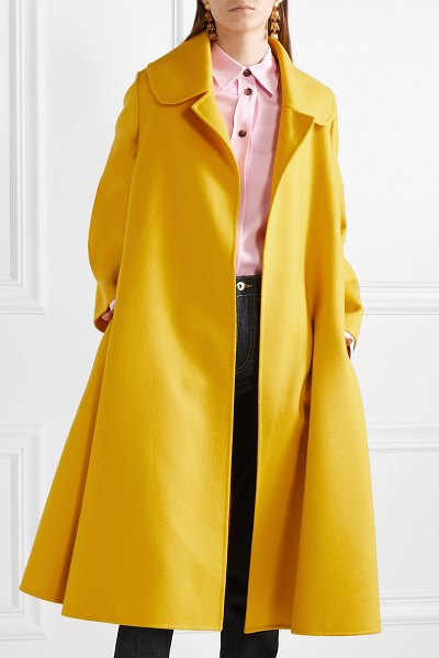 Oscar de la Renta oversized wool and cashmere-blend coat in marigold - Oscar de la Renta's Creative Directors Laura Kim and...