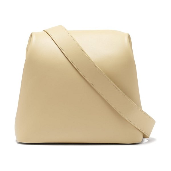 OSOI brot leather shoulder bag in beige