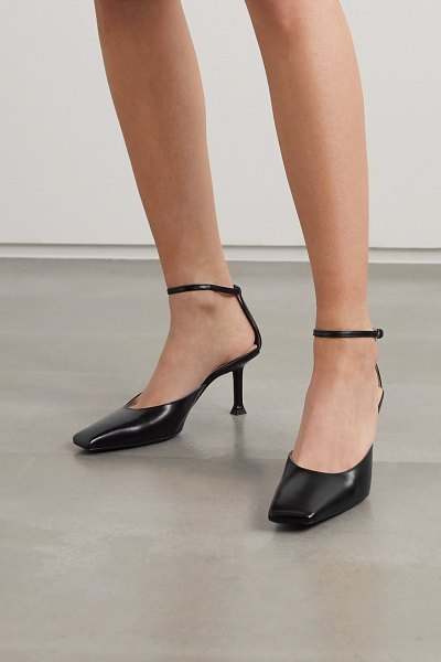 Paciotti glossed-leather pumps in black