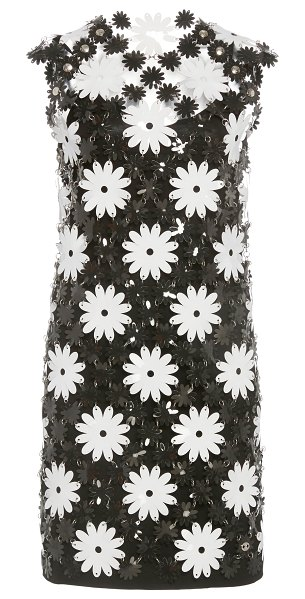 Paco Rabanne daisy-motif chainmail mini dress in floral