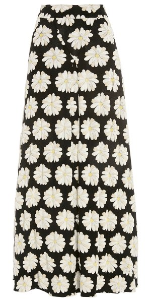 Paco Rabanne floral-print cotton-blend maxi skirt in floral