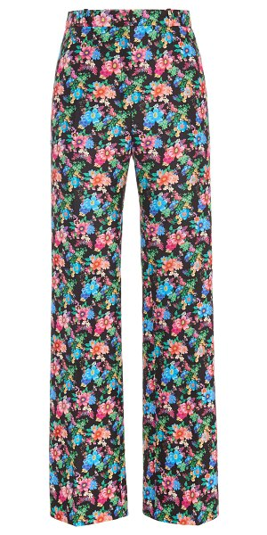 Paco Rabanne floral-print cotton-blend straight-leg pants in floral