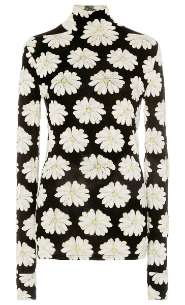 Paco Rabanne floral-print cotton-blend top in floral