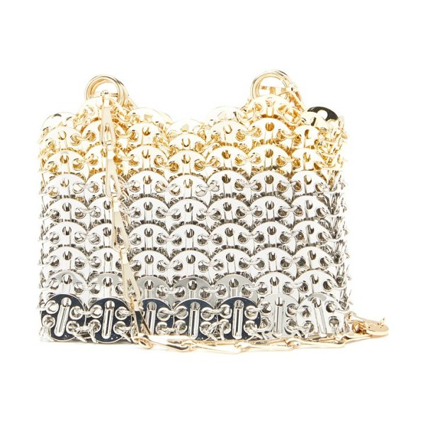 Paco Rabanne iconic 1969 mini chainmail bag in silver multi
