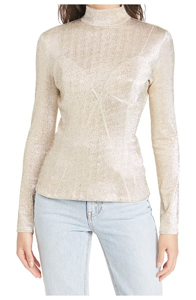 Paco Rabanne metallic top in silver/gold
