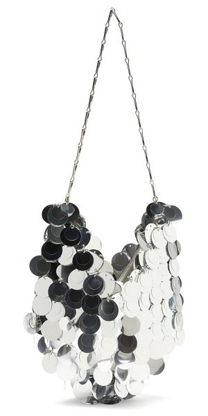 Paco Rabanne sparkle 1969 small sequinned shoulder bag in silver