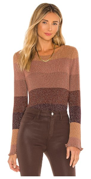 PAIGE alora sweater in grape multi