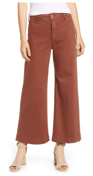 PAIGE anessa wide leg crop jeans in warm camel