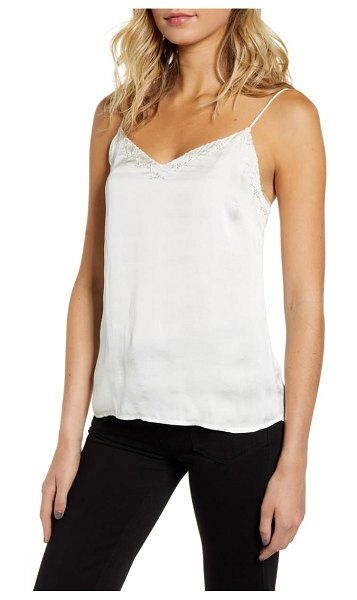 PAIGE cicely embroidered scallop trim camisole in ivory