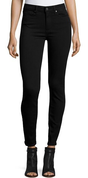 PAIGE Hoxton Ultra-Skinny Ankle Jeans in black shadow