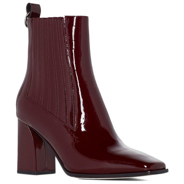 PAIGE frankie square toe bootie in wine