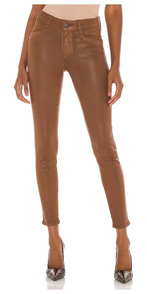 PAIGE hoxton ankle with joxxi pockets in cognac luxe coating
