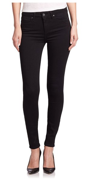 Paige Jeans hoxton high-rise ultra skinny jeans in black shadow