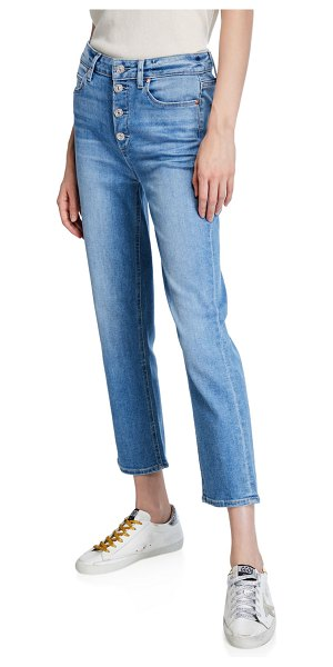 PAIGE Hoxton Ultra-Skinny Coated Jeans in dorado