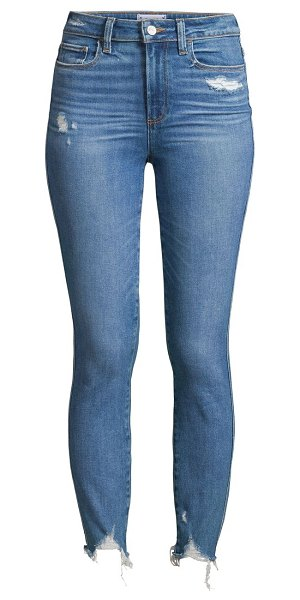 Paige Jeans hoxton high-rise ankle skinny jeans in jazlyn destructed