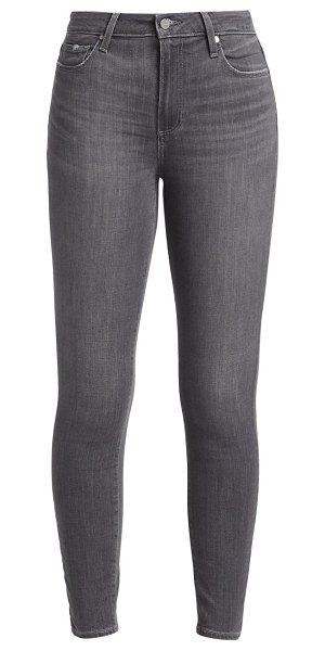 Paige Jeans hoxton high-rise ankle skinny jeans in stonedust