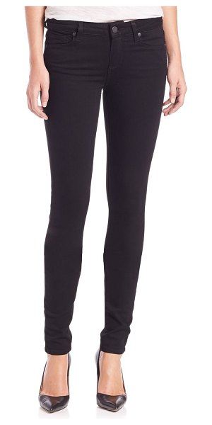 Paige Jeans transcend leggy extra-long ultra-skinny jeans in black shadow