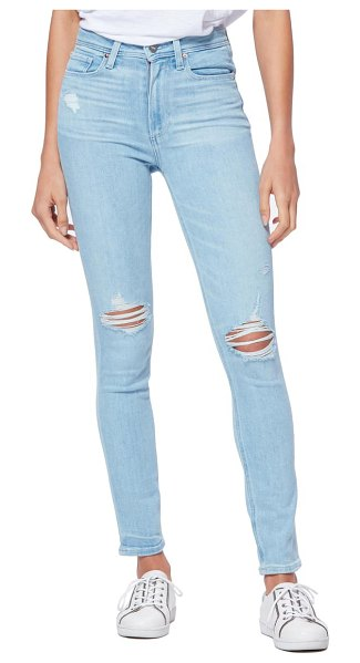 PAIGE margot ripped high waist ankle skinny jeans