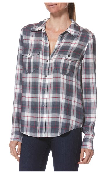 PAIGE mya plaid shirt in blue - A staple for both the workweek and the weekend, this...