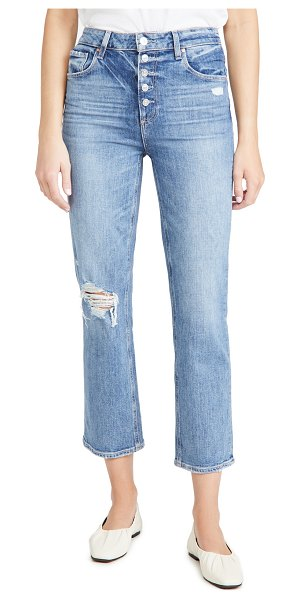 PAIGE sarah straight ankle jeans in corrine destructed