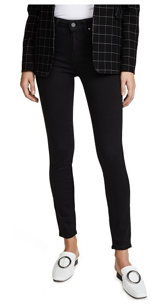 PAIGE transcend hoxton ankle jeans in black shadow