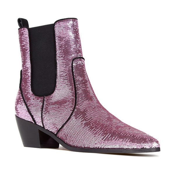 PAIGE willa chelsea bootie in pink - A pointy toe and a broken-profile heel bring a touch of...