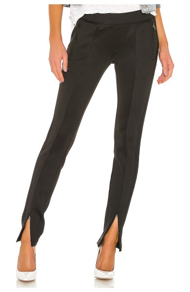 Pam & Gela front slit cigarette pant in black