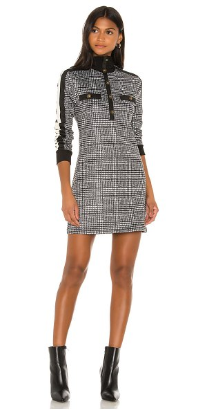 Pam & Gela glen tart track dress in glen plaid print