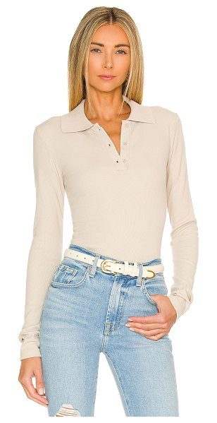 Pam & Gela polo top in silver lining