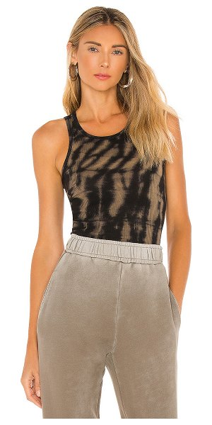 Pam & Gela tie dye tank top in black & grey