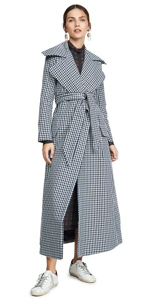 PAPER London collar coat in check me out