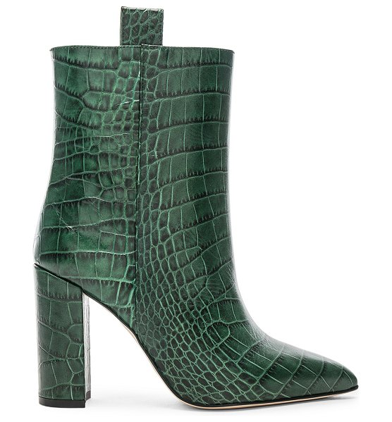 Paris Texas croco ankle boot in green