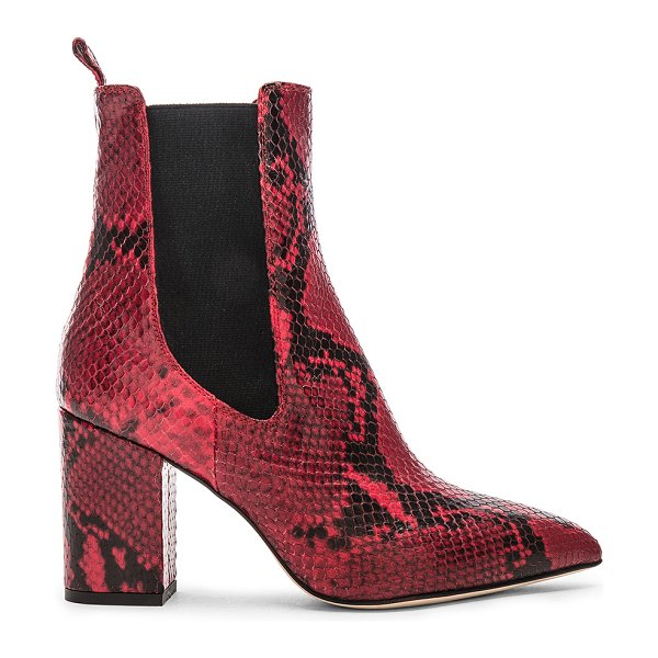 Paris Texas python print ankle boot in red