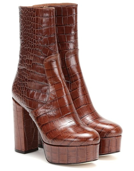 Paris Texas cocco leather ankle boots in brown