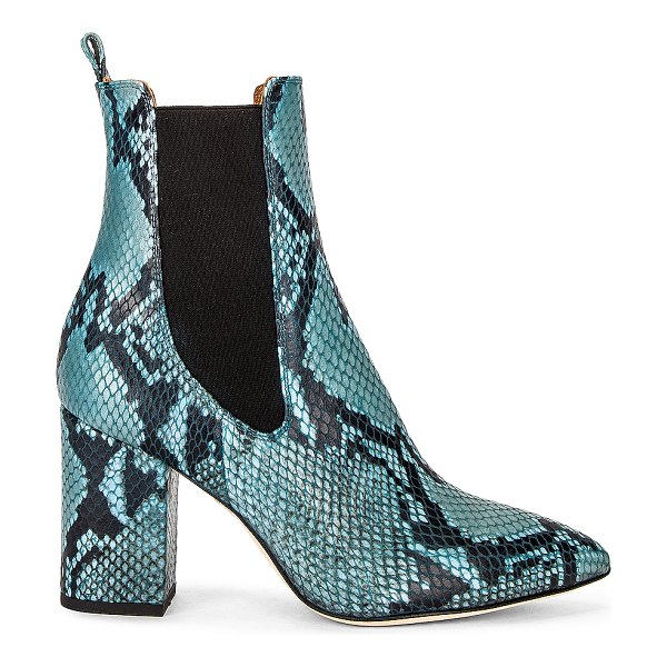 Paris Texas python print 80 ankle boot in jeans