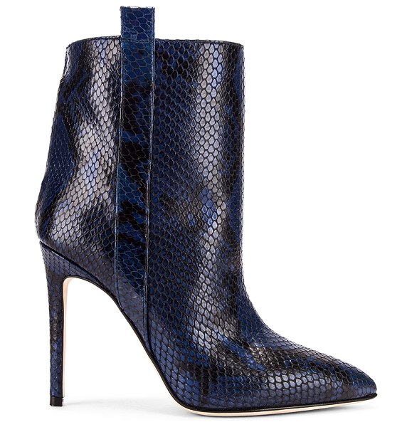 Paris Texas snake print ankle boot in navy