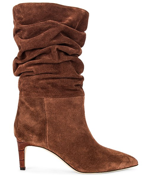 Paris Texas velour slouchy boot in espresso
