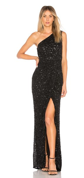 Parker Black Marnie Embellished Gown in Black | Shopstasy