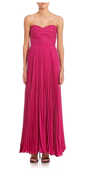 774acf37ff Parker Elegant Marielle Pleated Dress in Red