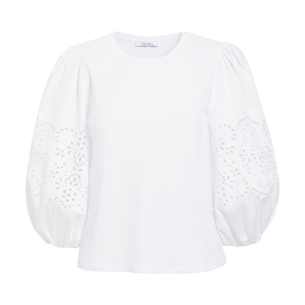 Parker zoe combo top in ivory
