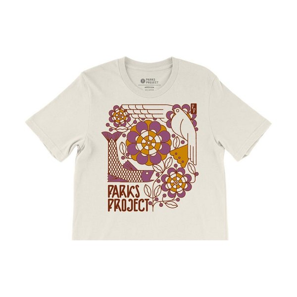 Parks Project art deco boxy graphic tee in natural