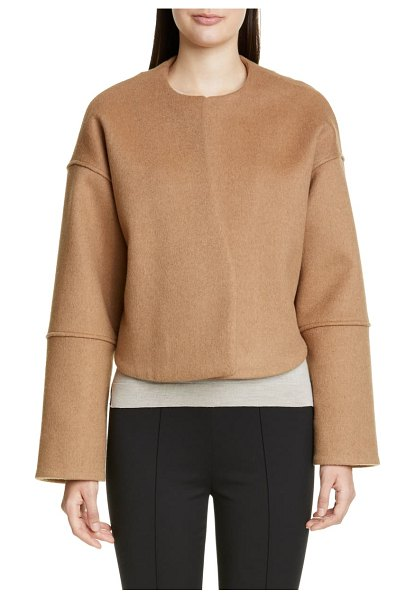 PARTOW marlow cashmere & camel's hair crop jacket in camel