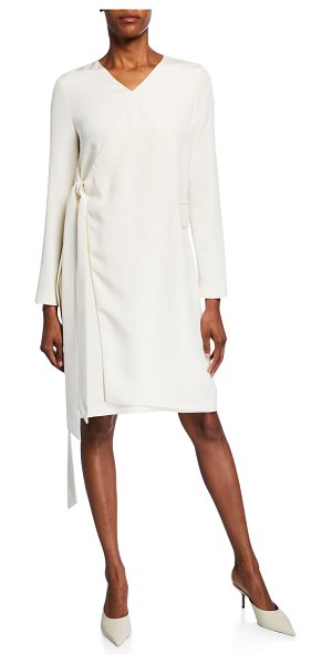 PARTOW Parquis Silk Wrapped Dress in ivory