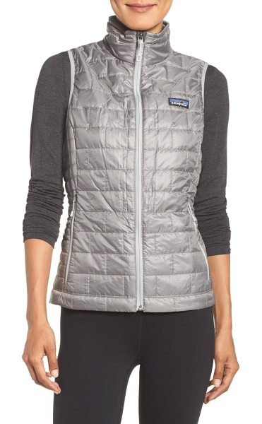 Patagonia nano puff insulated vest in feather grey