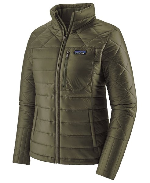 Patagonia radalie water repellent thermogreen-insulated jacket in basin green